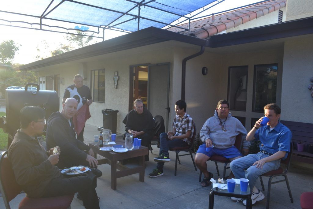 Saturday afternoon Barbecue, after optional trip with Fr. John to a ministry in town of Guadalupe.