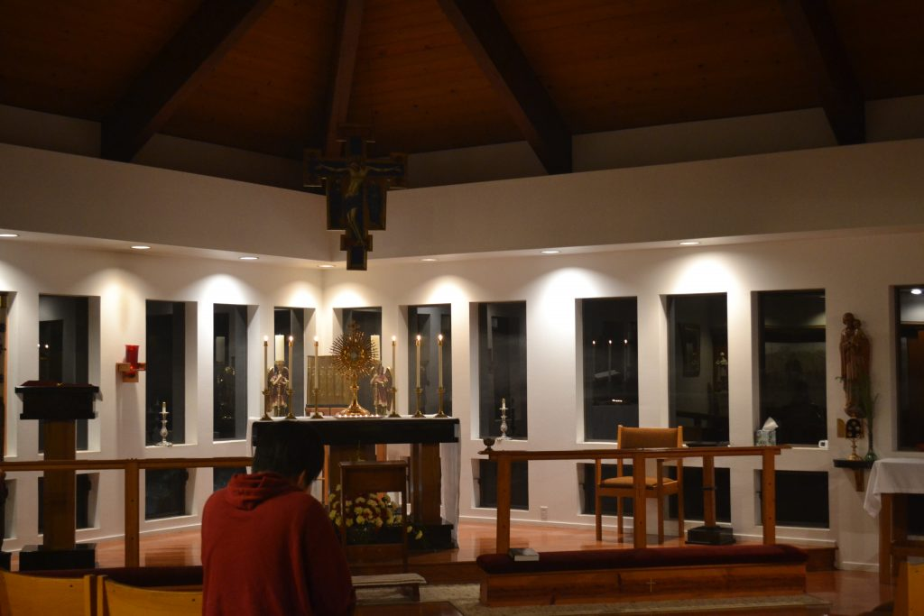 Saturday Night Adoration, after the Movie on St. Anthony of Padua.